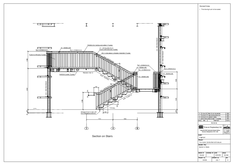 Drawtech Services Ltd Project Staircase And Enclosure