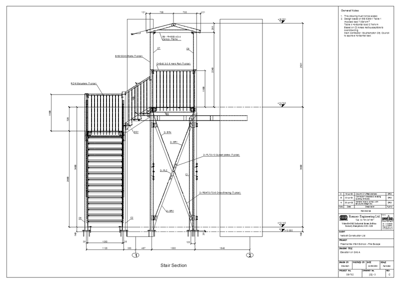 Drawtech Services Ltd Project Fire Escape Stairs And